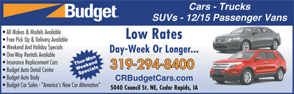 Cedar Rapids Budget Car Rental